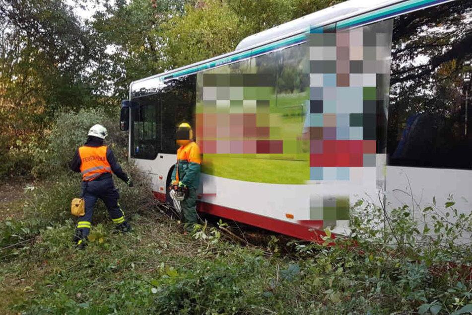 Der Fahrer des Busses hatte das Fahrzeug aufgrund eines defekten Kassiergerätes verlassen.