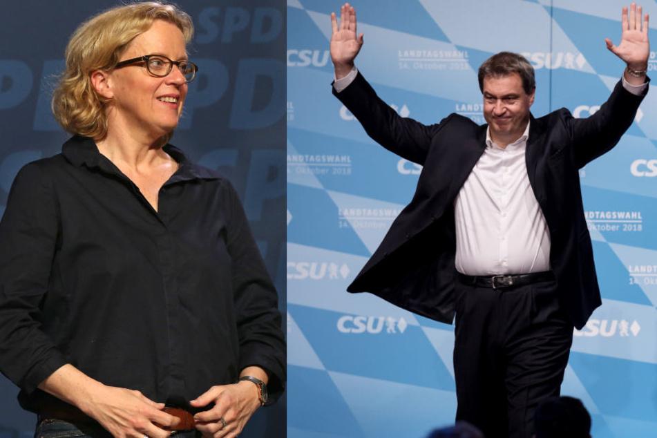 Wahlkampf-Endspurt von CSU und SPD: Lauf gegen das Umfragetief