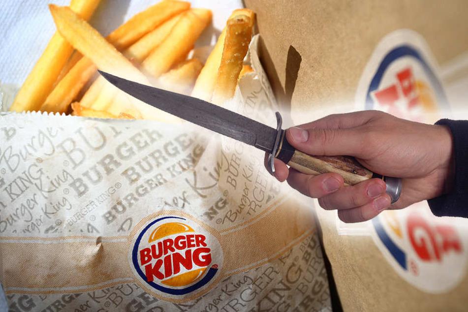 Mit einem Messer in der Hand wollte ein unbekannter Dieb drei Männern das Essen abnehmen. (Symbolbild)