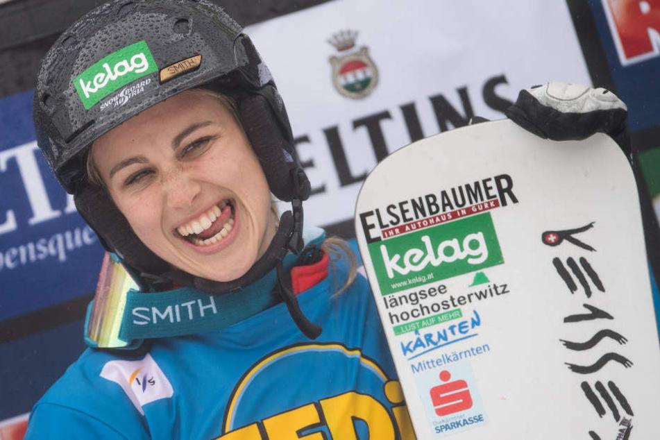 Sabine Schöffmann (Österreich) gewann den Damen-Slalom 2017.