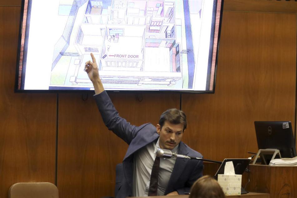 Der amerikanische Schauspieler Ashton Kutcher sagt im Mordprozess gegen den mutmaßlichen Serienmörder Michael Gargiulo aus.