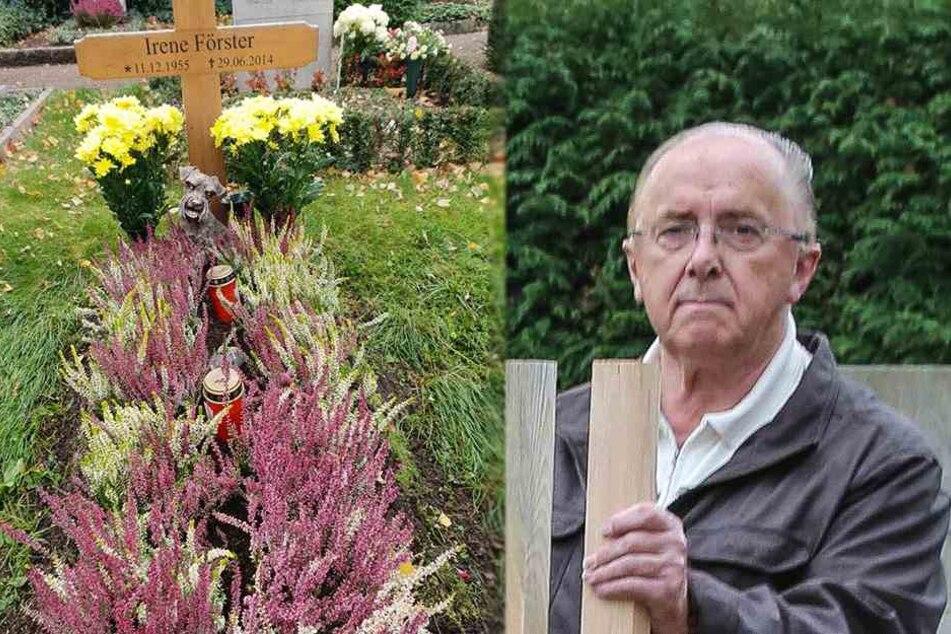 Witwer geht zum Grab seiner Frau und kann nicht fassen, was er dort vorfindet