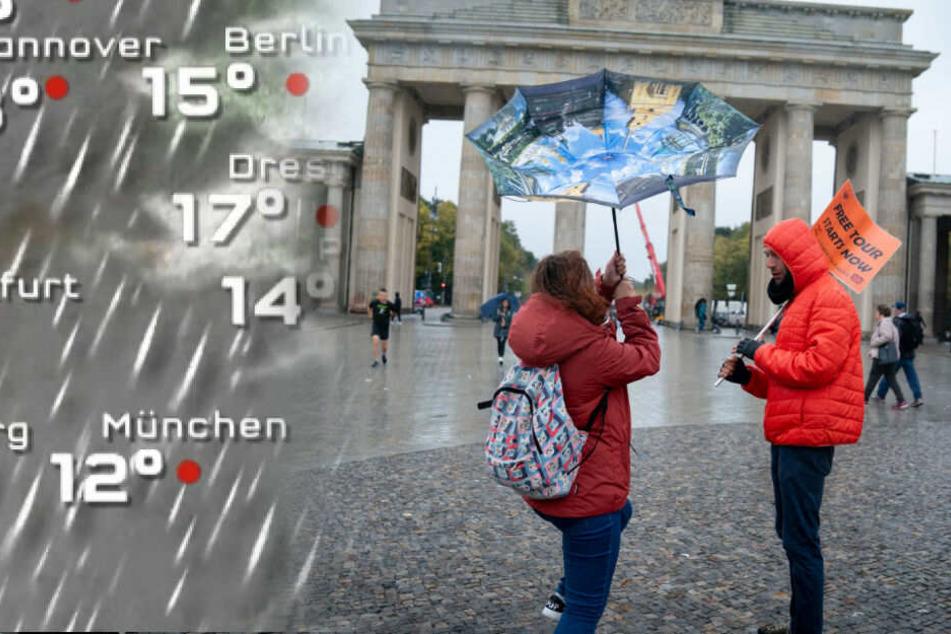 In Berlin bleibt es grau und nass.