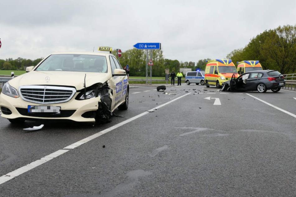 Auf der S45 bei Klinga ist es am Samstag zu einem schweren Unfall gekommen.