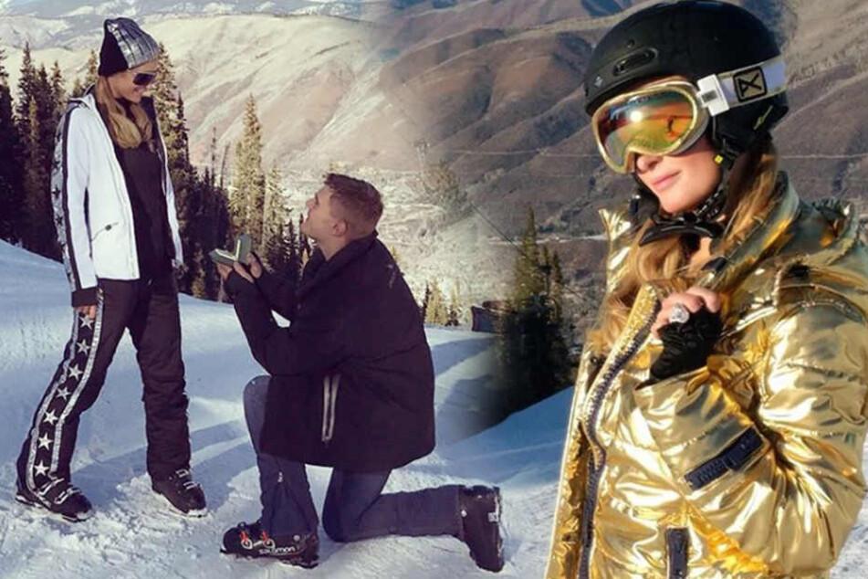 Paris Hilton: Beim Antrag hat nicht nur der Schnee geglitzert