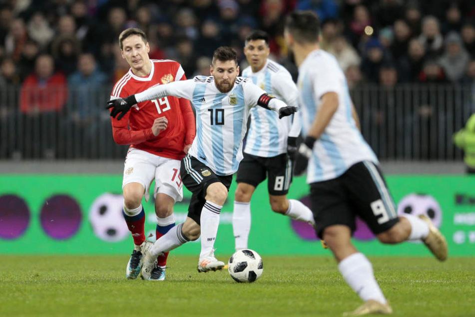 Messi auf Hochtouren: Argentinien setzte sich am Ende mit 1:0 durch.