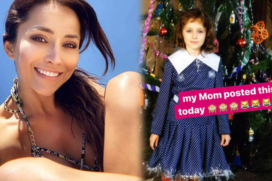 Rechts das Kinderfoto, links ein aktuelles Bild von Anastasiya Avilova: Die Ähnlichkeit der beiden Gesichter ist unübersehbar.