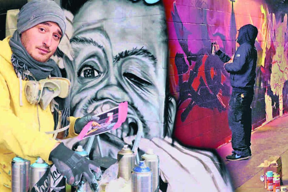 Graffiti so weit das Auge reicht! Hier machen Sprayer Zwickau bunt