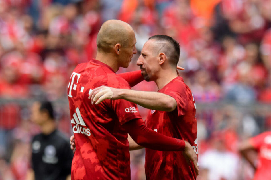 Arjen Robben (l) und Franck Ribery.