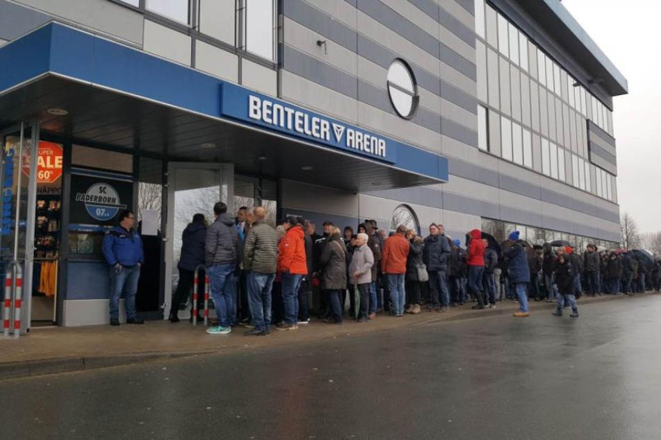 Mehrere hundert SCP-Fans wollten ein Pokal-Ticket für die Partie gegen den Fc Bayern München.