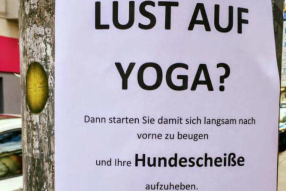 Du denkst, es ist eine Einladung zu einem Yoga-Kurs, und dann das.