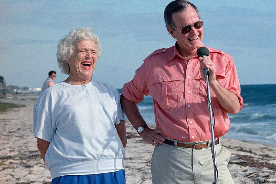Mit ihrem Ehemann George W. H. Bush war Barbara Bush 73 Jahre lang verheiratet.