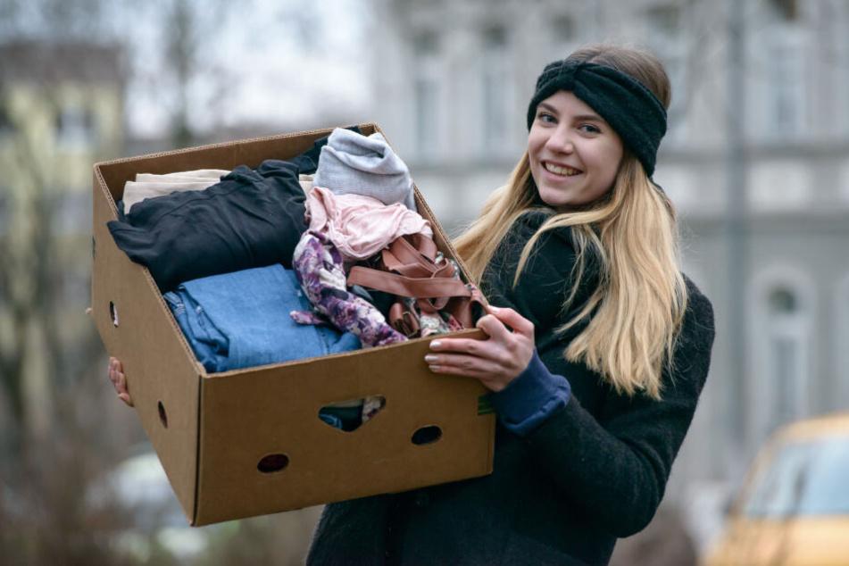 Aktivistin Victoria Teuchert (18) will zum Flohmarkt auch eigene Klamotten mitbringen.