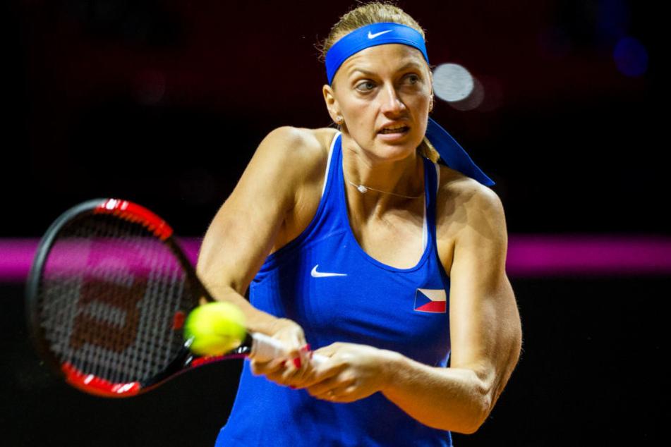 Siegte im Halbfinale gegen Görges: die Tschechin Petra Kvitova.