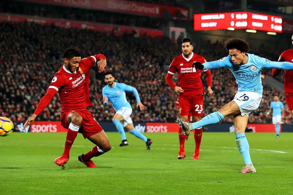 Eines von 14 Premier-League-Toren in der abgelaufenen Saison von Leroy Sané - hier das 1:1 gegen den Champions-League-Finalisten FC Liverpool.