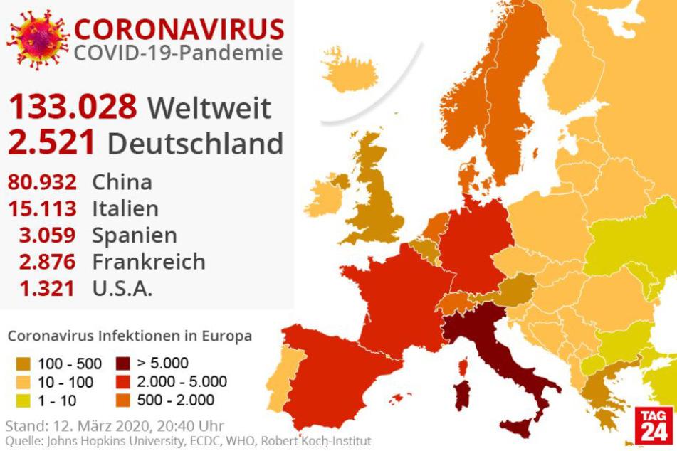 Infizierte In Europa