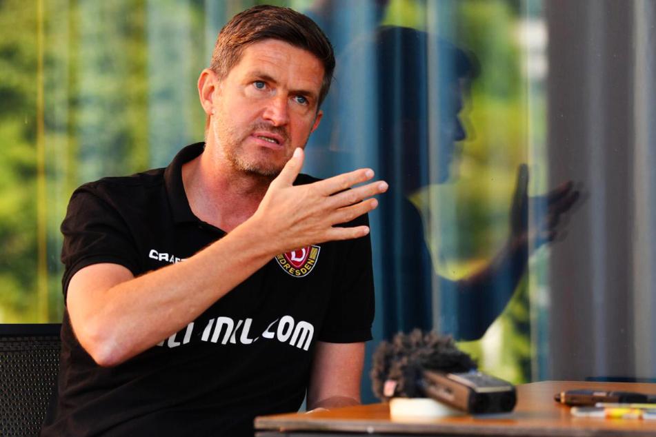 SGD-Sportgeschäftsführer Ralf Becker stand den Dresdner Medien Rede und Antwort.
