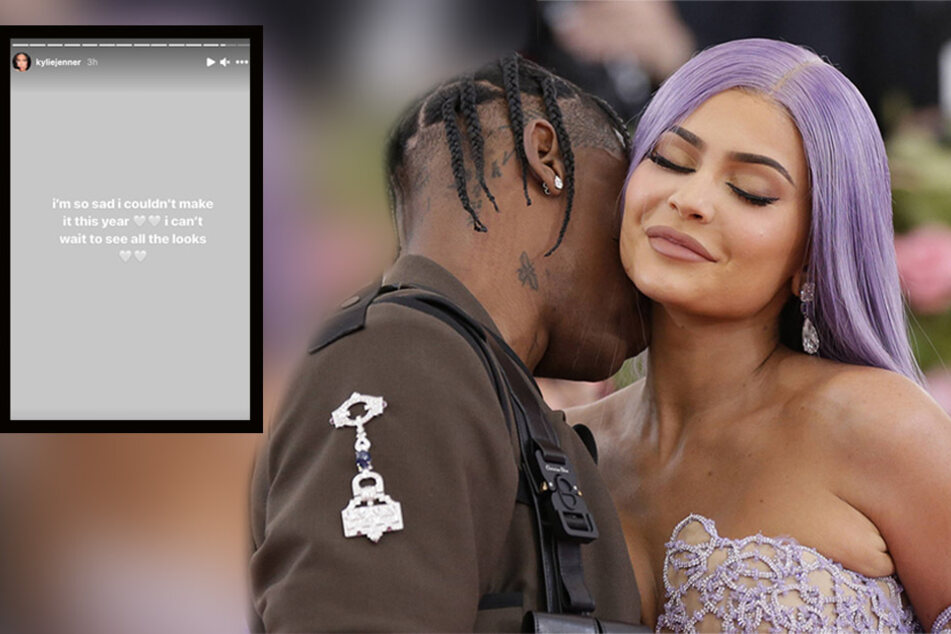 On Monday, Kylie Jenner (r.) announced on Instagram that she will not be attending the 2021 Met Gala.