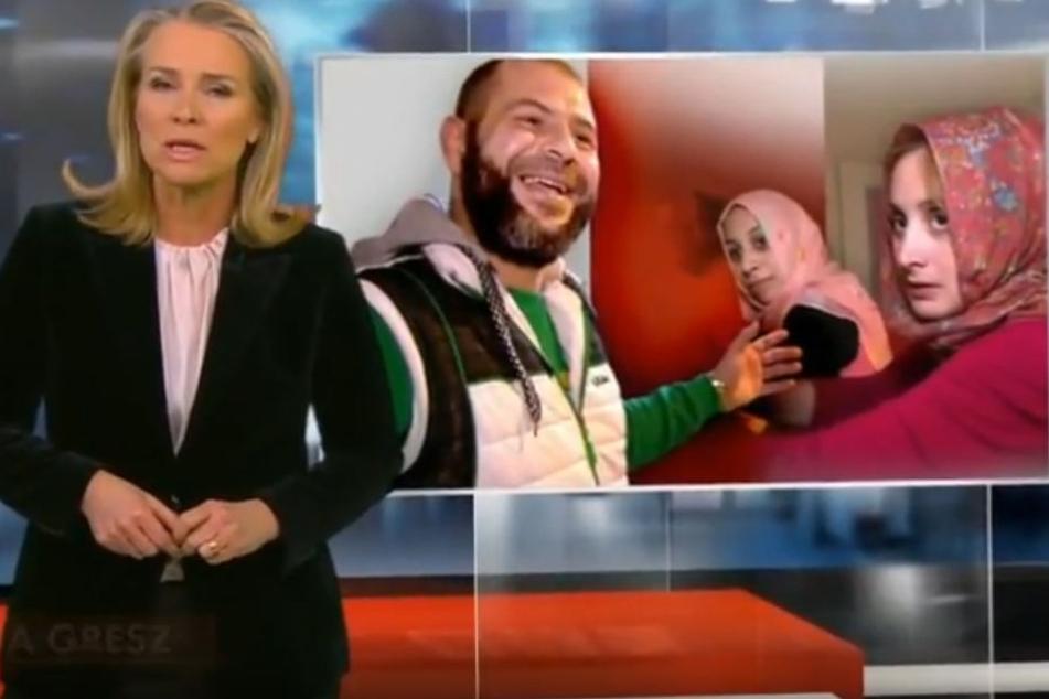 Moderatorin Maria Gresz hatte über Ahmed A. und seine Vielehe in Pinneberg im Februar bei Spiegel-TV berichtet.