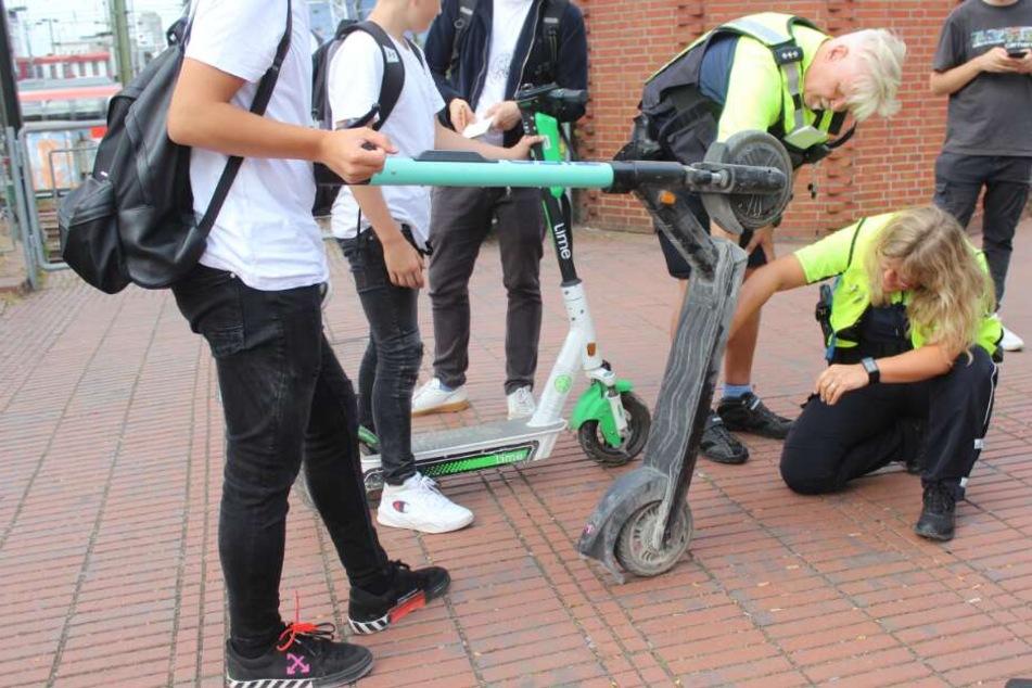 Kölner Polizei warnt: E-Scooter sind keine Spielzeuge!