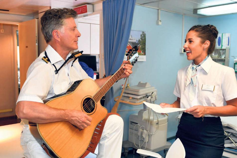 Sarah Lombardi fühlte sich als Gaststar auf dem Traumschiff sichtlich wohl.