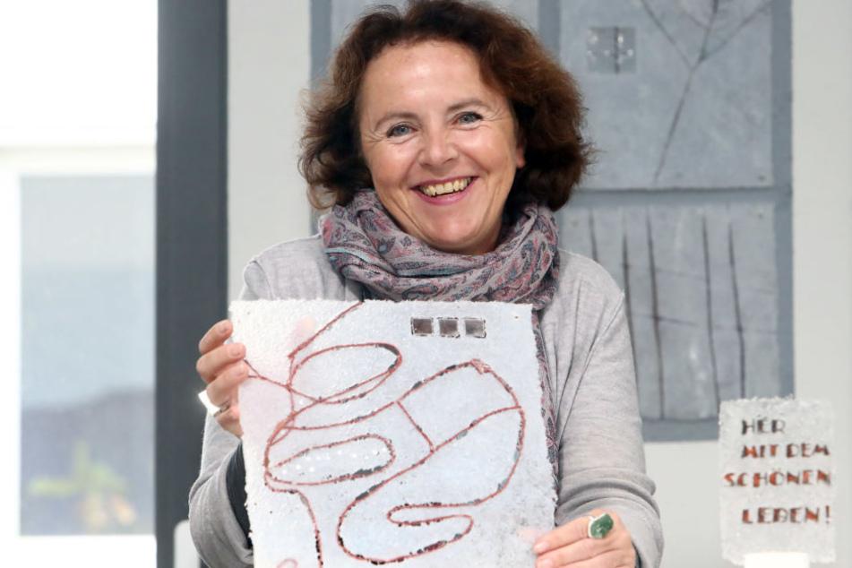 Kunst ist, was man dafür hält. Anett Tanger hat auch ein Herz für Abstraktes.