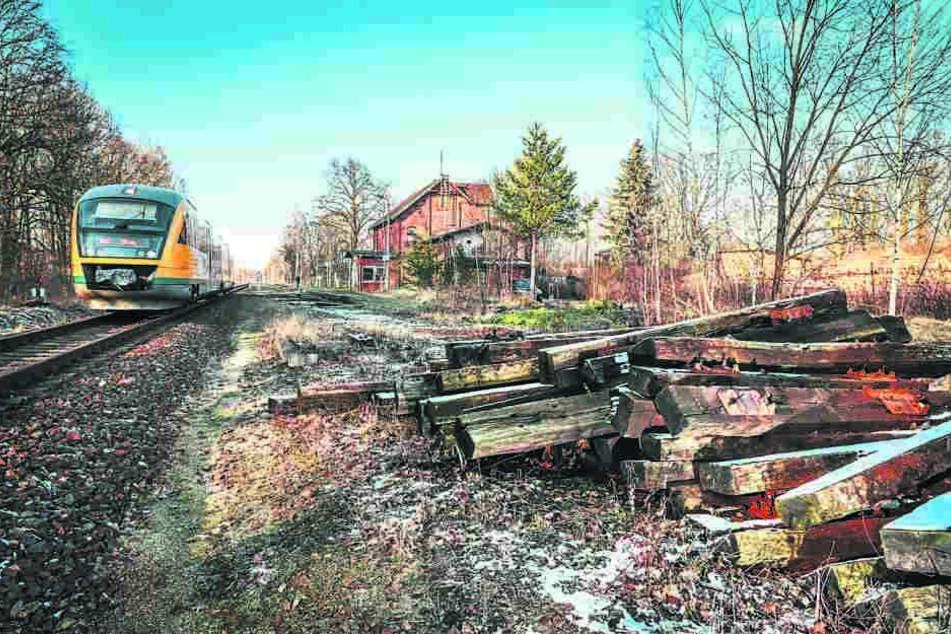 Hier wurden 90 Tonnen Schienen geklaut.