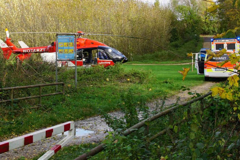 Per Hubschrauber kam eines der Opfer in eine Klinik.