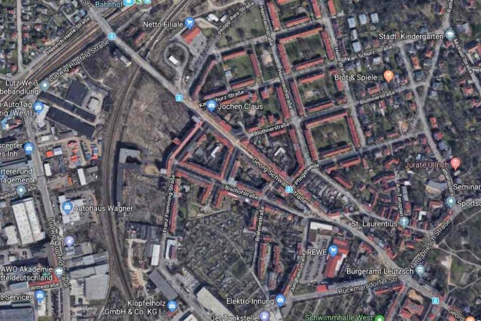 Der Vorfall ereignete sich auf der Georg-Schwarz-Straße in Leutzsch.