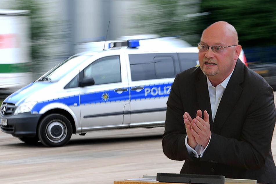 """Schneller vor Ort: Die """"Eintreffzeit"""" der sächsischen Polizei nach Notrufen hat sich in den vergangenen Jahren um durchschnittlich zehn Minuten pro Fall verbessert. Das wurde nach einer Anfrage von Enrico Stange (50, Linke) bekannt."""