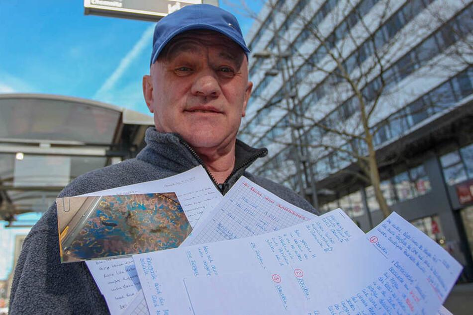 Ex-Busfahrer Karl-Heinz Voit (69) kämpft für einen besseren ÖPNV.