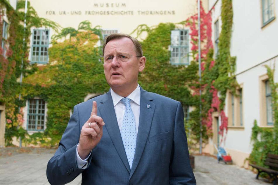 Thüringens Regierungschef Bodo Ramelow (Linke) stellt sich schon mal an die Seite der Arbeitnehmer.