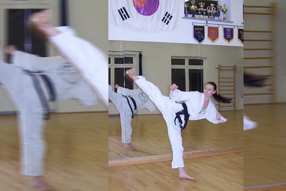 Elisabeth Jahnke (42) ist Taekwon-Do-Meisterin mit schwarzem Gürtel (3. Dan), schult ab März Senioren in Selbstverteidigung.