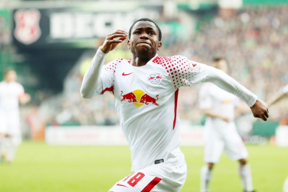 Lookman traf nur fünf Minuten nach seiner Einwechslung zum 1:1-Ausgleich für RB Leipzig.
