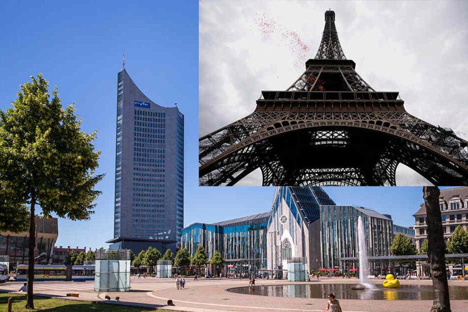Aus Sicht der JU ist die Freiheitsstatue zu klein. Deshalb soll der Eiffelturm auf dem WIlhelm-Leuschner-Platz nachgebaut werden.