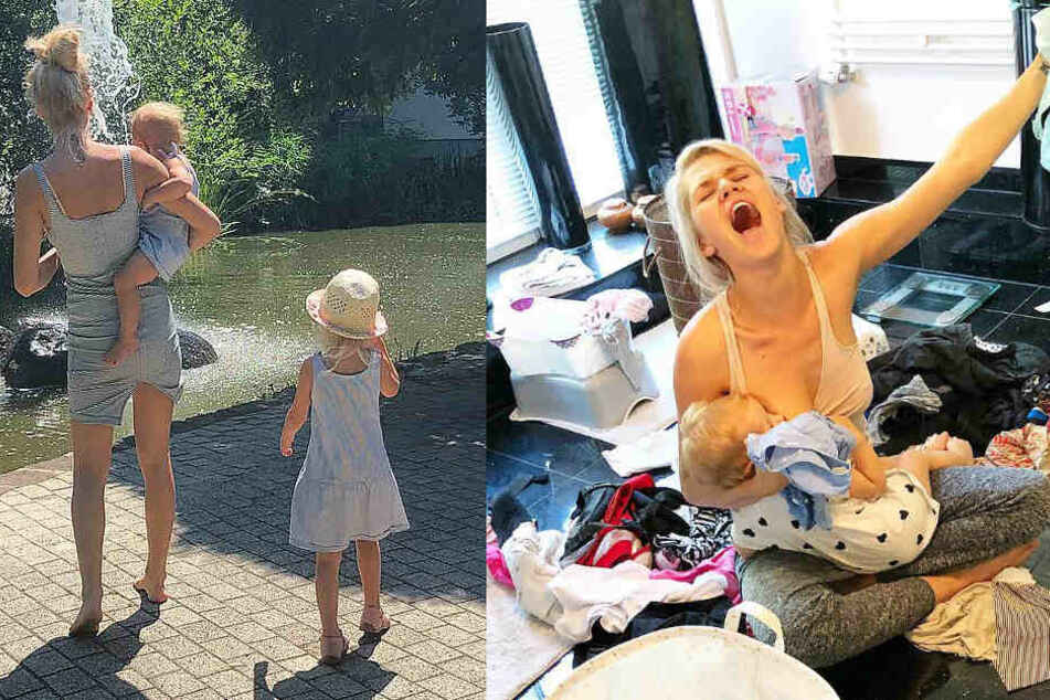 Hausfrauen machen sich 'nen Lenz? Von wegen! Model-Mama Sara Kulka muss manchmal arg die Zähne zusammen beißen, um nicht auszurasten!