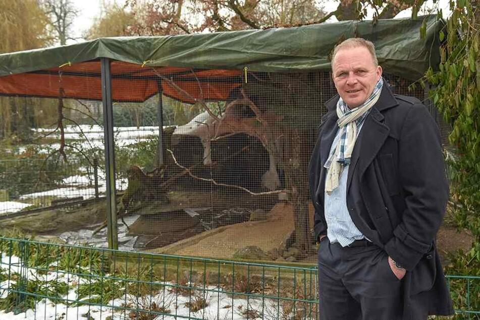 Freut sich auf die Eröffnung: Zoochef Karl-Heinz Ukena (47).
