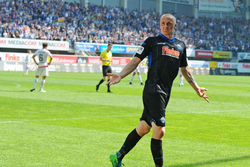 Sven Michel traf gegen die SpVgg Unterhaching gleich doppelt.