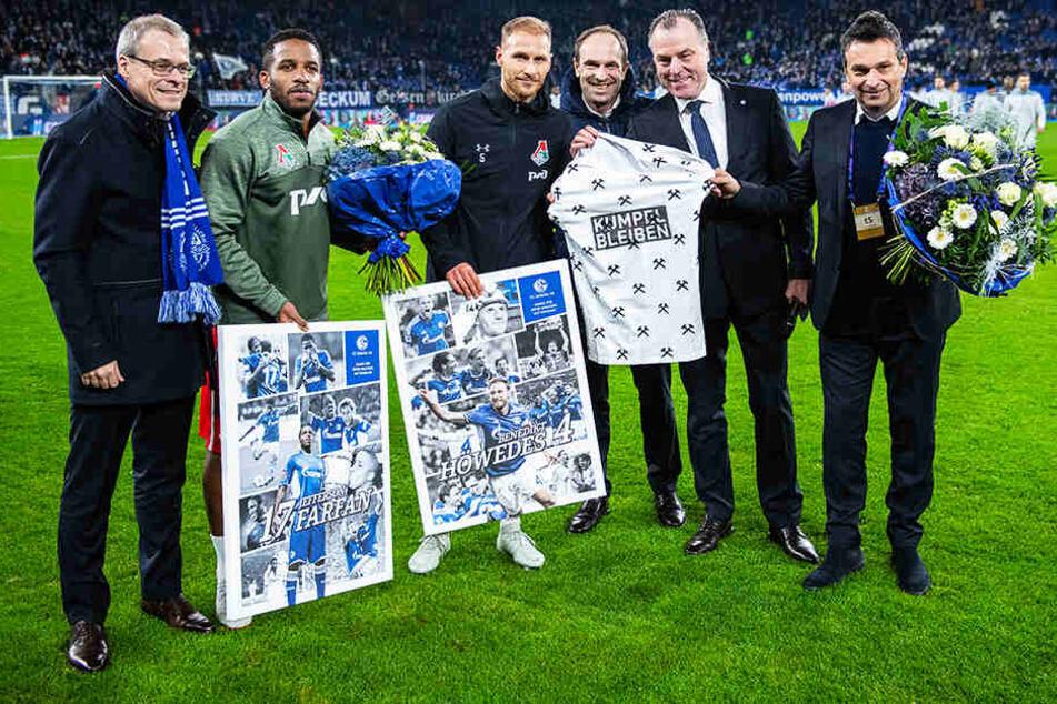 Im Champions-League-Duell zwischen Schalke und Lok Moskau im vergangenen Dezember, verabschiedete man Höwedes und den ebenfalls langjährigen Schalker Jefferson Farfan in der Veltins Arena.