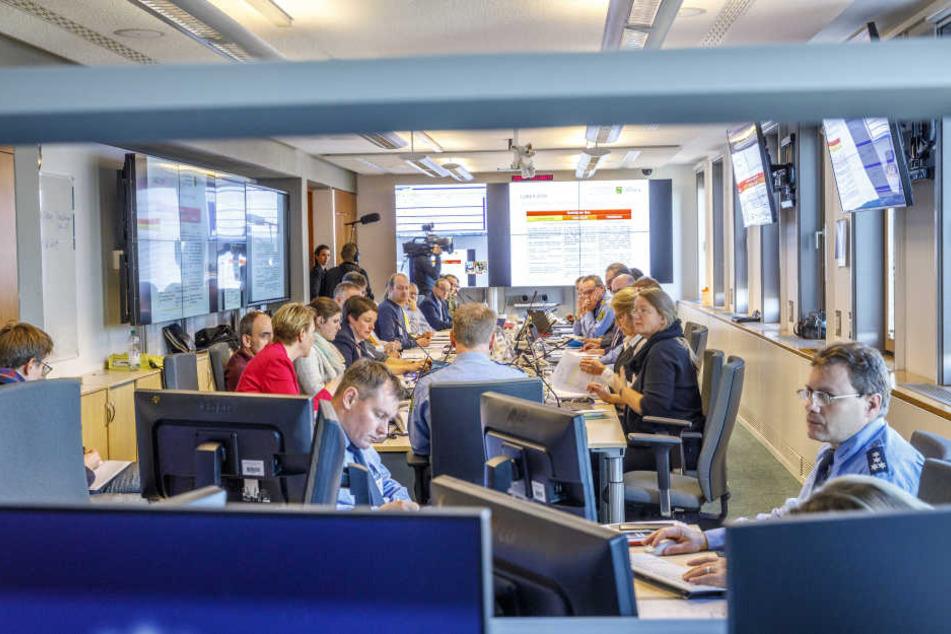 In Krisensituationen kommt der Verwaltungsstab zusammen.
