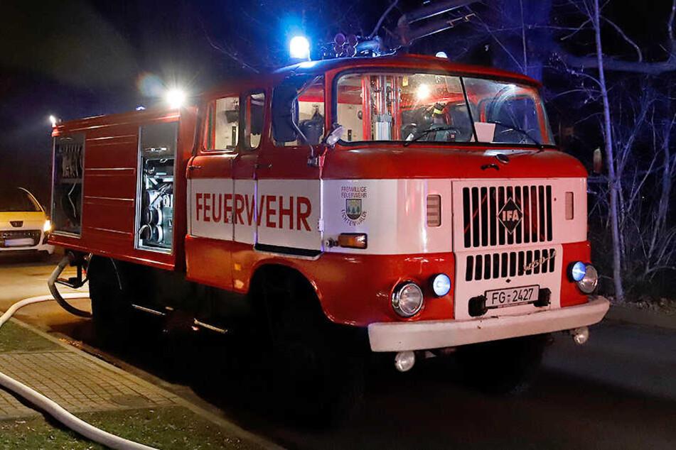 Trotz schnellen Einsatzes der Feuerwehr brannte die Baracke komplett nieder.