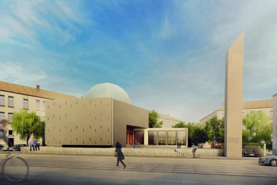 Der Siegerentwurf: So soll die Moschee im Leipziger Norden aussehen.