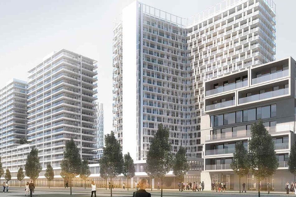 Ein Großprojekt der CG-Gruppe kommt nach Frankfurt: Das Quartier Kaiserlei in Offenbach mit den 19- und 22-geschossigen NewFrankfurt Towers.