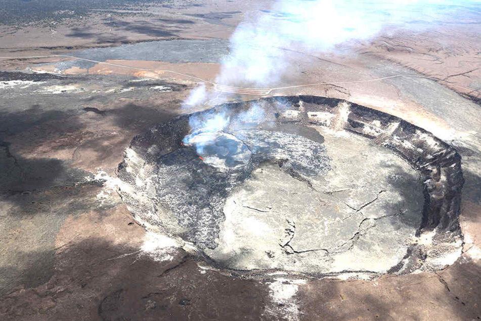 Seit Tagen zeigt der Bulkan Kilauea auf Big Island starke Aktivität.