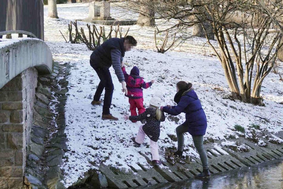 Diese Woche holte das Ordnungsamt eine vierköpfige Familie vom Schlossteich.