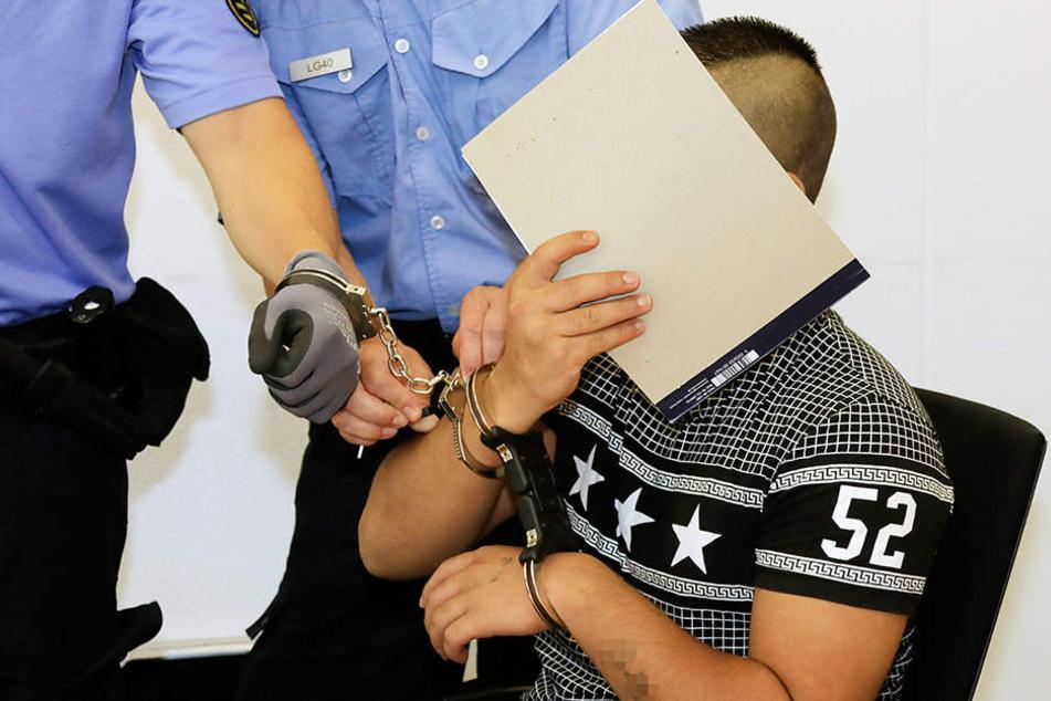 Richard B. am Montag im Landgericht.