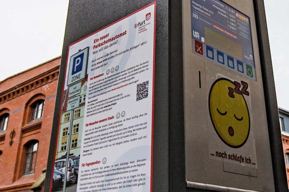 So sehen sie aus, die neuen Parkschein-Automaten in der Landeshauptstadt. Doch wann sie in Betrieb gesetzt werden, ist noch unklar.