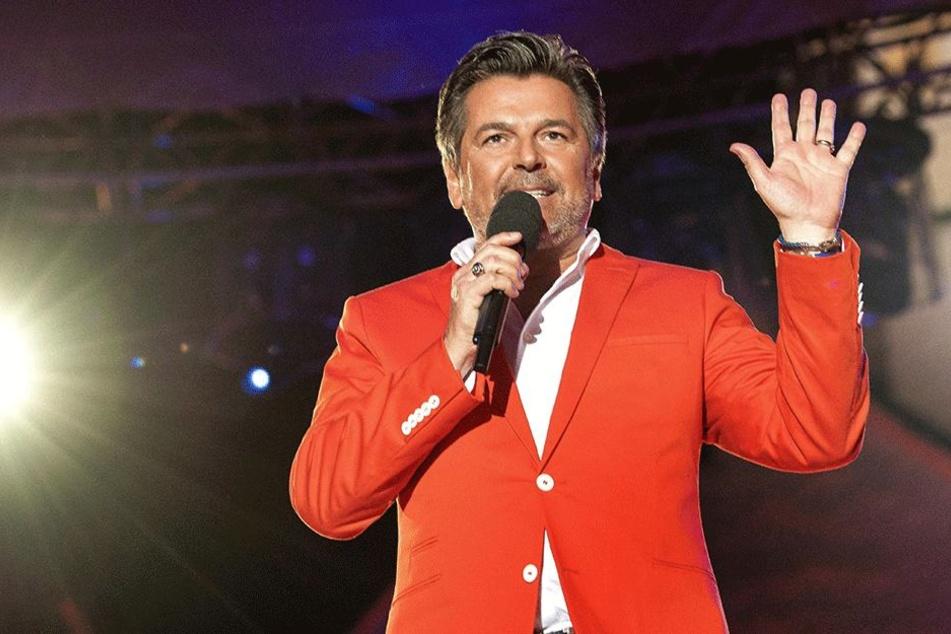 Thomas Anders (55) singt bei der Weihnachts-Show in Zwickau.