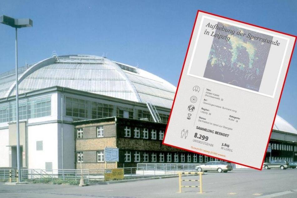 Petition gegen die Sperrstunde in Leipzig übergeben