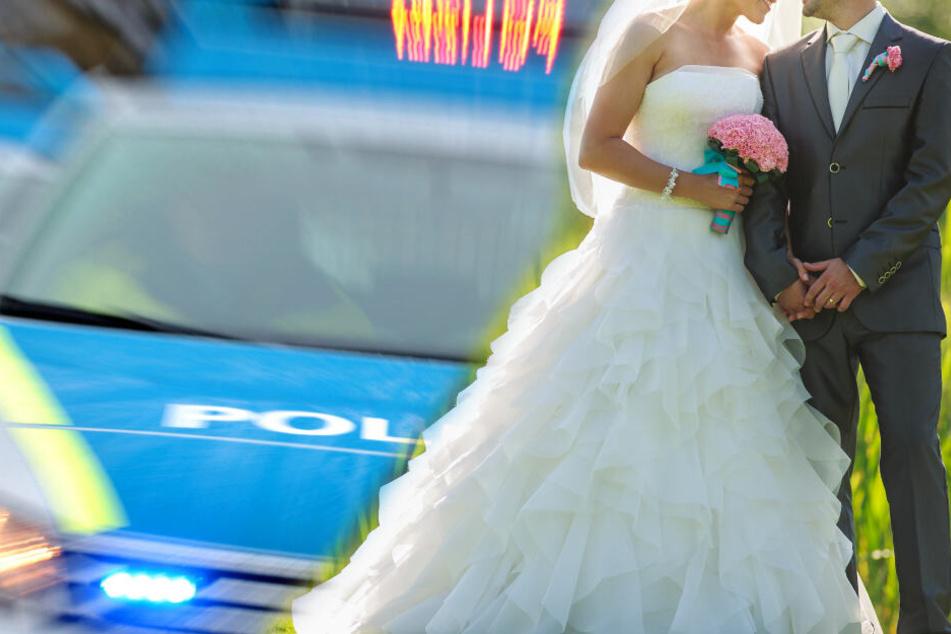 Der Autokorso der Hochzeitsgesellschaft legte die Ludwigsburger Innenstadt lahm. (Symbolbild/Fotomontage)